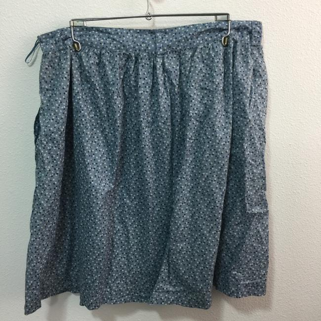 MNG by Mango Pockets Lined Skirt Blue & White Image 1