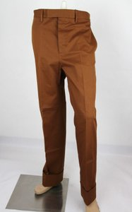 Gucci Brown Mustard Stretch Gabardine Pant It 48r/Us 32 400637 2450 Groomsman Gift