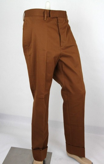 Gucci Brown Mustard Stretch Gabardine Pant It 48r/Us 32 400637 2450 Groomsman Gift Image 1
