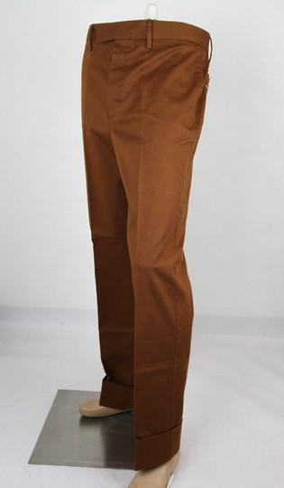 Gucci Brown Mustard Stretch Gabardine Pant It 48r/Us 32 400637 2450 Groomsman Gift Image 2