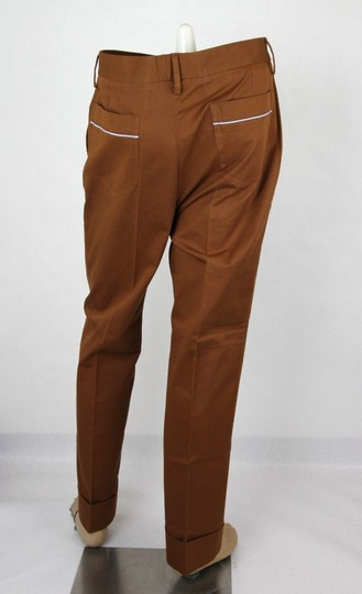 Gucci Brown Mustard Stretch Gabardine Pant It 48r/Us 32 400637 2450 Groomsman Gift Image 3