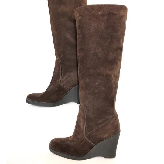 Calvin Klein Suede Wedge Comfortable brown Boots Image 1