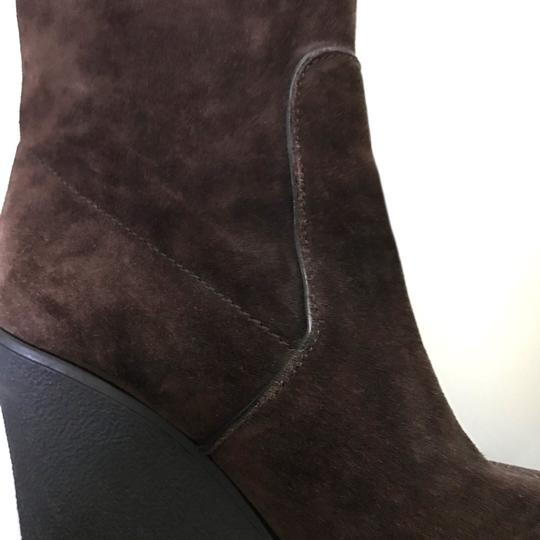 Calvin Klein Suede Wedge Comfortable brown Boots Image 3