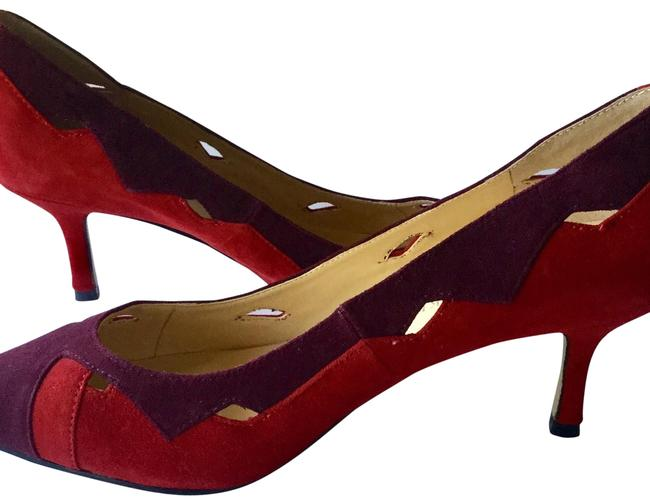 Item - Purple and Red Suede 2.5 Inch Heels Pumps Size US 8.5 Regular (M, B)