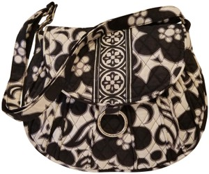 05be18af2458 Vera Bradley Night Day Factory Style Frannie Attached Black and ...