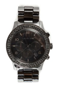 Michael Kors Michael Kors Gunmetal Runway Blackout Watch