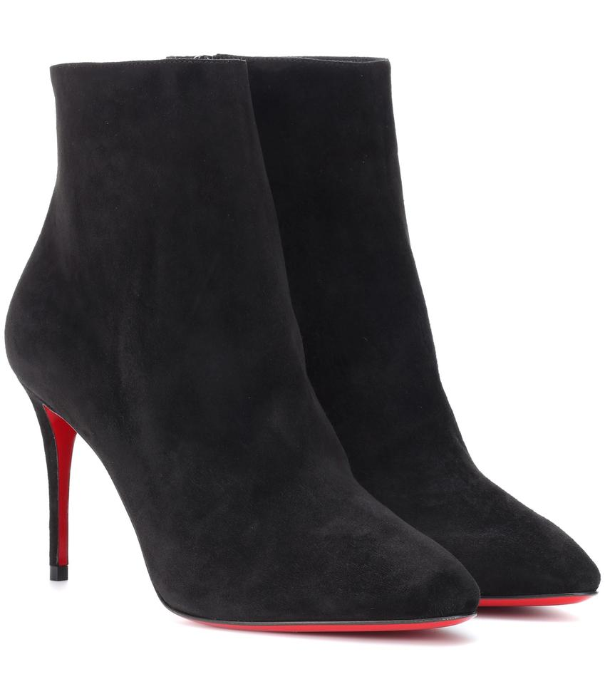 11cc2d6ca67 Christian Louboutin Black New Eloise 85 Suede 36 Boots Booties Size ...