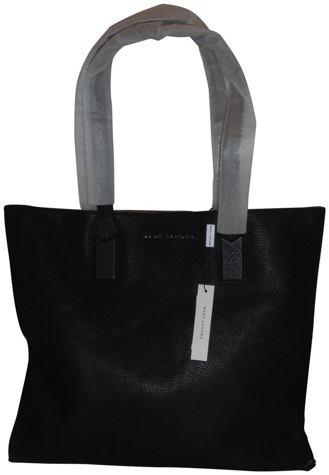 a9f06fe8a6d1 Marc by Marc Jacobs Wingman Shoppers W Pouch Black Leather Tote ...