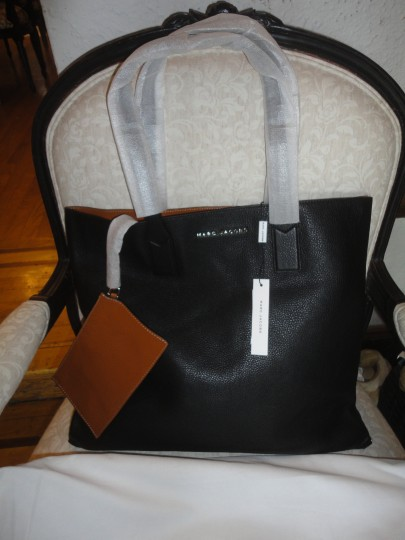 Marc by Marc Jacobs Designer Leather Tote in Black Image 1