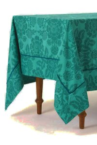Anthropologie Dark Turquoise Magnolia Tablecloth Other