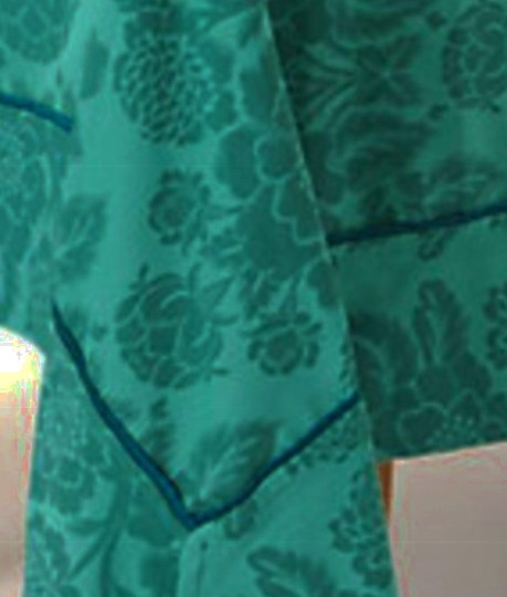 Anthropologie Dark Turquoise Magnolia Tablecloth Other Image 1