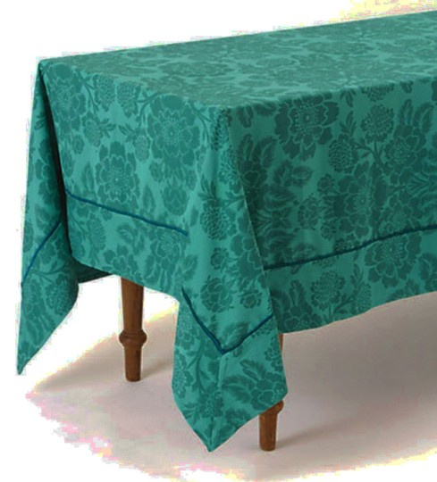 Anthropologie Dark Turquoise Magnolia Tablecloth Other Image 2