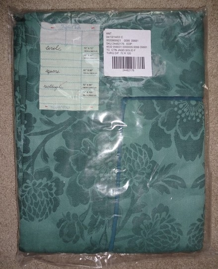 Anthropologie Dark Turquoise Magnolia Tablecloth Other Image 4