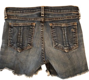 Rag & Bone Frayed Hem Stretchy Denim Shorts-Distressed