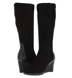 La Canadienne Wedge Black Boots