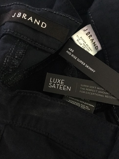 J Brand Super Luxe Sateen Blue Skinny Jeans Image 7