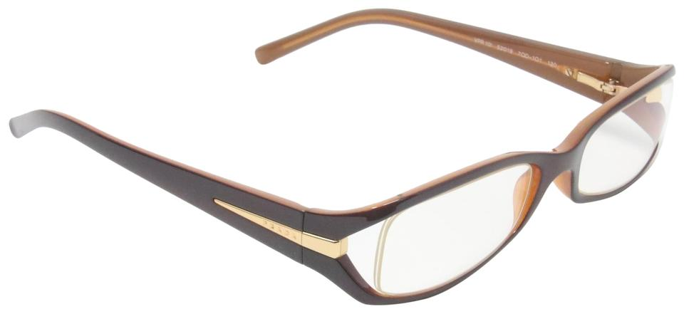 10a50205e5 Prada Brown Frame Designer Vpr10i Prescription Eyewear Glasses ...