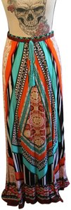 Flying Tomato Rayon Maxi Skirt Multi