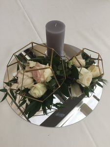 Gold Gray Silver Clear (Set) Centerpiece