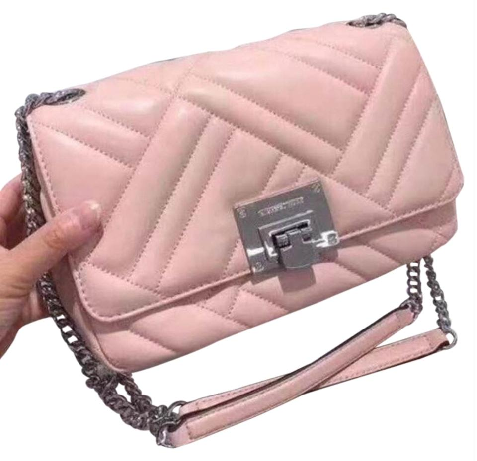 735e30a2dce8 Michael Kors Vivianne Chain Sloan Pink Leather Shoulder Bag - Tradesy