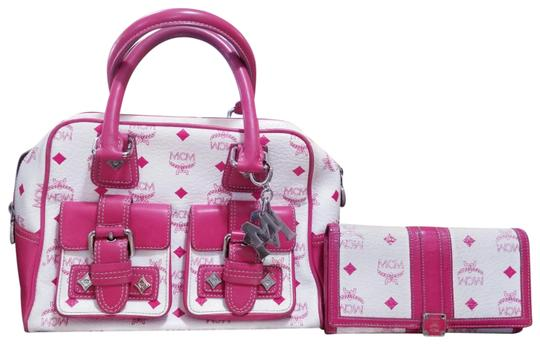Preload https://img-static.tradesy.com/item/24125455/mcm-with-wallet-pink-white-leather-satchel-0-18-540-540.jpg