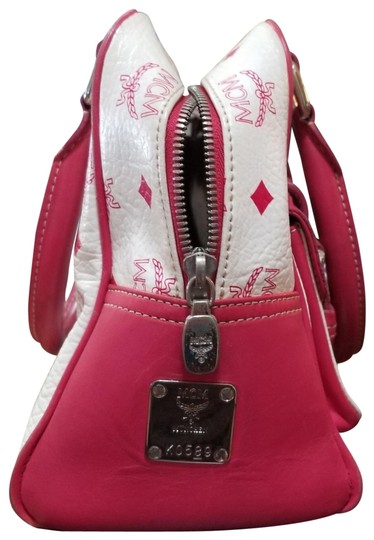 MCM Satchel in Pink, white Image 1