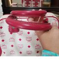 MCM Satchel in Pink, white Image 2