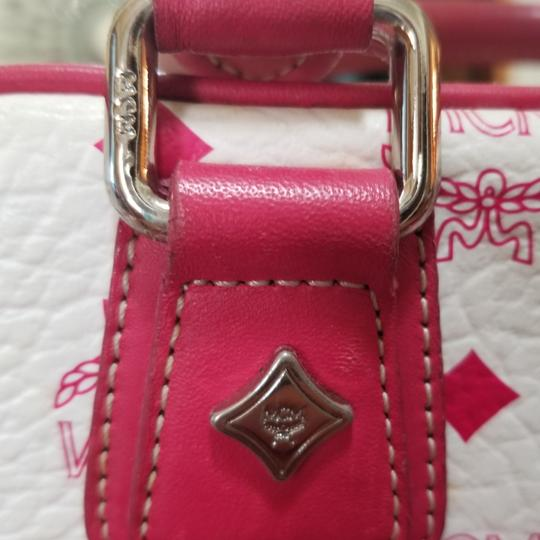 MCM Satchel in Pink, white Image 3