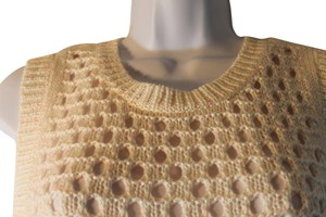 Chelsea28 Vest Crochet Sequin Sparkle Sweater