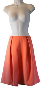 Chelsea28 Pleated Polyester Skirt Coral Rose