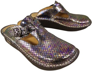 Alegria by PG Lite Mary Jane Size 38 Size 8 iridescent Mules