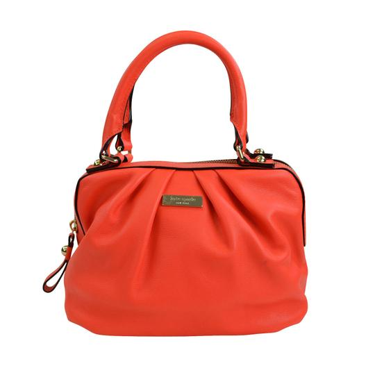 Kate Spade Kinsey Red Leather Satchel Cross Body Bag Image 1