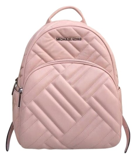 Preload https://img-static.tradesy.com/item/24125580/michael-kors-abbey-quilted-rhea-pink-leather-backpack-0-3-540-540.jpg