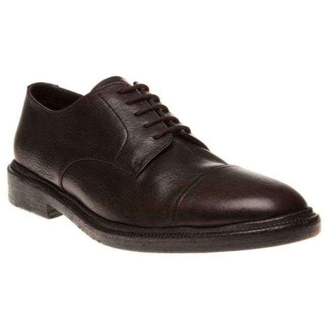 Burberry Prorsum Brown Redworths Dark Leather Shearling Derby Oxfords 43 10 Italy Shoes Burberry Prorsum Brown Redworths Dark Leather Shearling Derby Oxfords 43 10 Italy Shoes Image 1