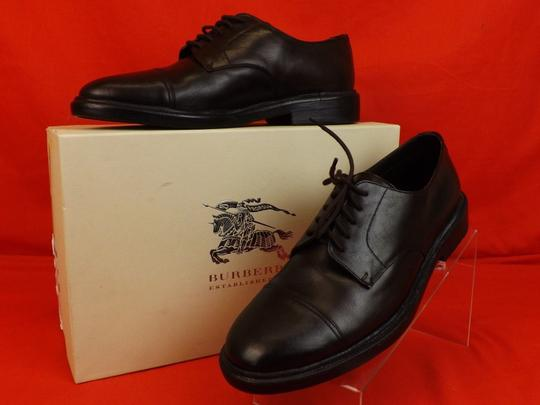 Burberry Prorsum Brown Redworths Dark Leather Lace Up Derby Oxfords 43 10 Italy Shoes Image 3