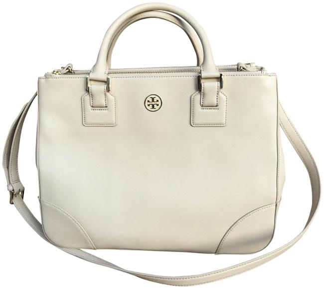 Tory Burch Robinson Double Zip Toasted Wheat Leather Tote Tory Burch Robinson Double Zip Toasted Wheat Leather Tote Image 1
