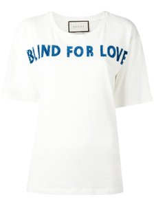 Gucci Blind For Love Blue T Shirt White