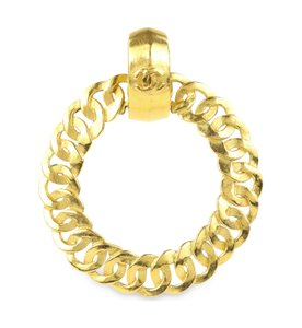Chanel Chanel Gold Circle Chain Single Clip On Earring