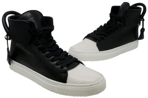 Buscemi Air Force Ones Nike Monogram Men's Fashion Streetwear Black and White Athletic