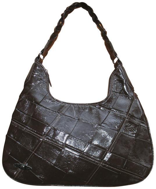 Elliott Lucca New Pascale Braided Brown Pig Leather Hobo Bag Elliott Lucca New Pascale Braided Brown Pig Leather Hobo Bag Image 1