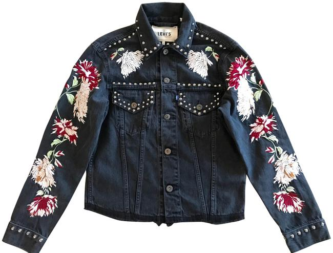 Item - Black Made & Crafted Trucker Jacket Size 4 (S)