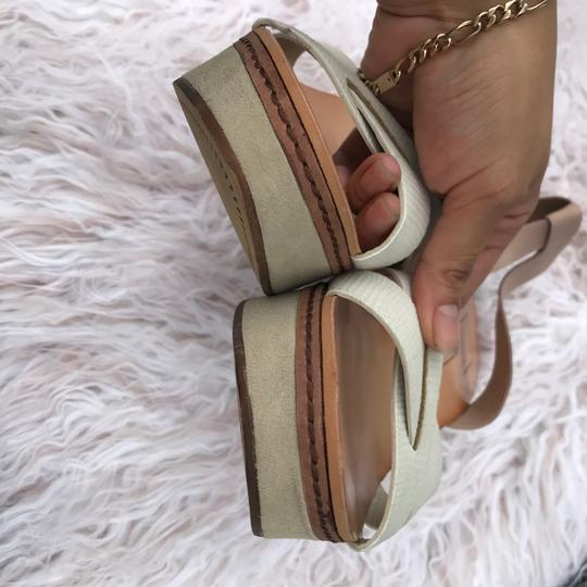 Dolce Vita beige/cream/white/tan Wedges Image 10
