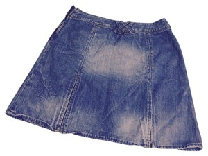 Dolce&Gabbana Mini Skirt Stone washed denim blue