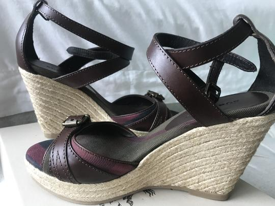 Burberry Wedge Wedges Brown Sandals Image 10