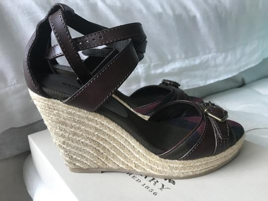 Burberry Wedge Wedges Brown Sandals Image 11
