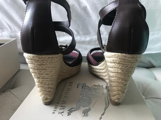 Burberry Wedge Wedges Brown Sandals Image 2