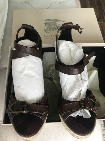 Burberry Wedge Wedges Brown Sandals Image 4
