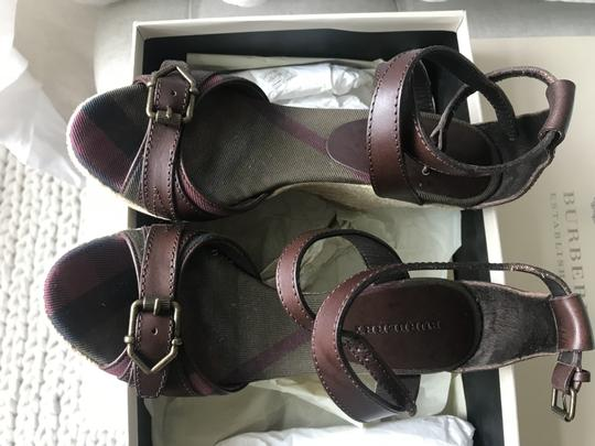 Burberry Wedge Wedges Brown Sandals Image 5