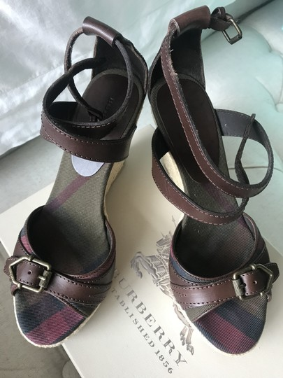 Burberry Wedge Wedges Brown Sandals Image 7