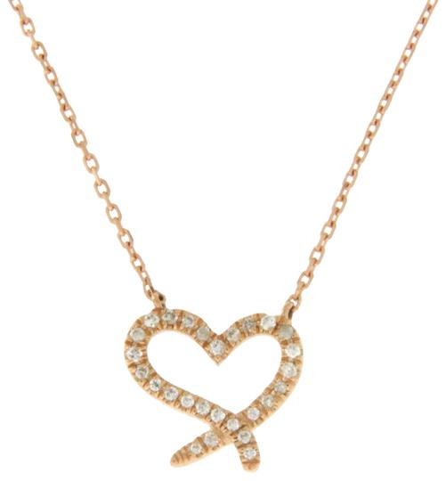 Preload https://img-static.tradesy.com/item/24125921/14k-rose-gold-006-ct-diamonds-heart-necklace-0-1-540-540.jpg